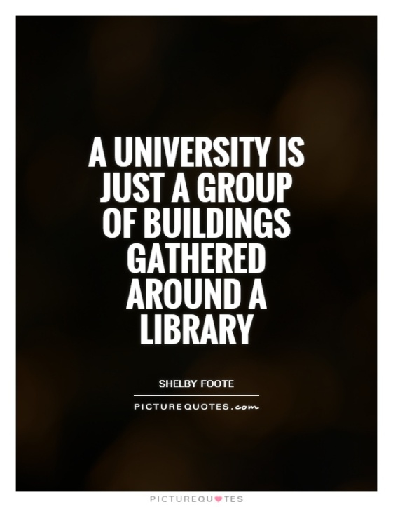 a-university-is-just-a-group-of-buildings-gathered-around-a-library-quote-1